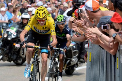 For a few moments we were on the Ventoux: Quintana v Froome (I was Froome).